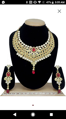 Other Wedding Jewelry Yellow Gold Plated Multi Color Necklace Set Superior Materials