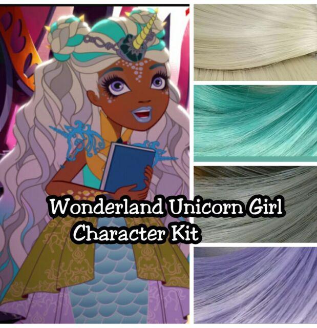 Ever After High Wonderland Unicorn Girl Reroot Nylon Hair Kit For