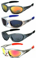 2 Pair Combo X-loop Sport Cycling Fishing Golfing Wrap Around Sunglasses Uv400