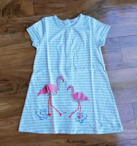 MINI BODEN baby GIRLS FLAMINGO APPLIQUÉ JERSEY DRESS Y0277 BRAND NEW