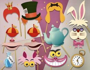 Ready Made Alice In Wonderland Party Photo Booth Props Mad Hatters T