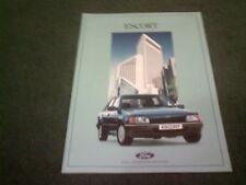 Noviembre de 1988/1989 Ford Escort Inc XR3i & Rs Turbo-Folleto de mercado alemán