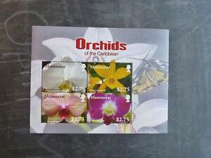 2008-MONTSERRAT-ORCHIDS-OF-THE-CARIBBEAN-4-STAMP-MINI-SHEET-MNH