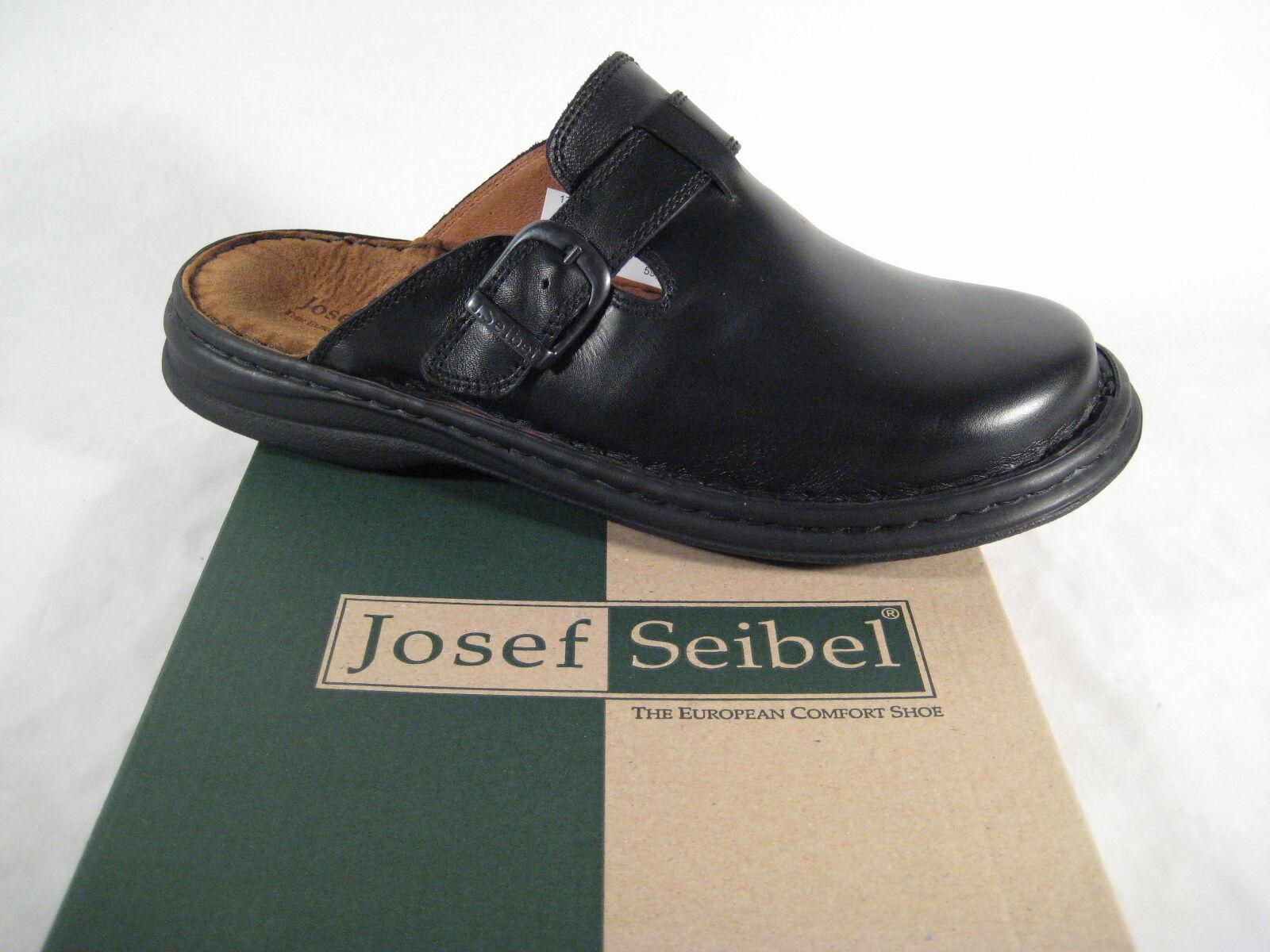 Seibel  Clogs Mule Slippers Mules 10122 nero Leather New  fino al 42% di sconto