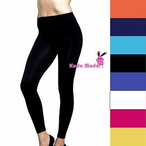 13cb4da971273 Image is loading New-Solid-Full-Length-Seamless-Stretch-Footless-Long-