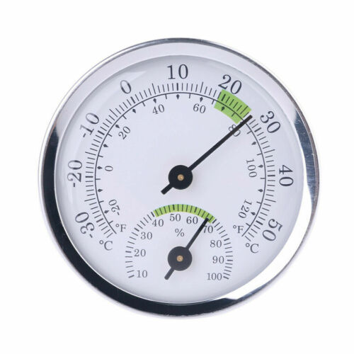 Indoor Outdoor Wall Mounted Mini Analog Hygrometer Thermometer Humidity Meter
