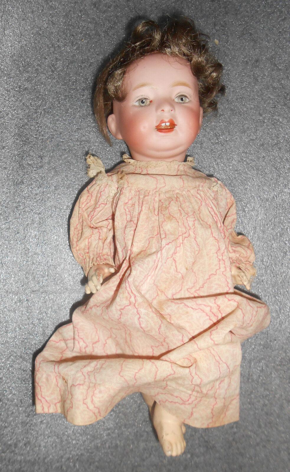 Antiguo Morimura Brojohers cabeza de Biscuit muñeca