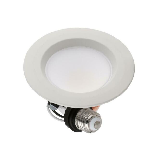 Commercial Electric 4¨ Matte White Integrated LED Recessed Trim 5-ways  (4-Pack)