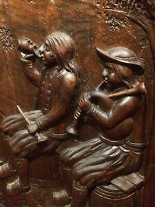 🦋napoléon III art populaire Breton, Pare Feux Cheminée XIXéme