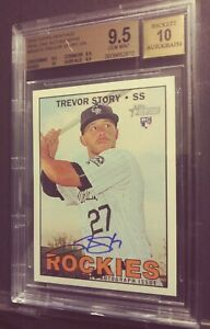 2016-Topps-Heritage-Trevor-Story-Real-One-RC-Auto-BGS-9-5-10