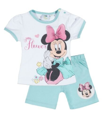 NEU Disney Baby Minnie Maus Shorty Set Shirt /& Shorts Sommer Kurz Mouse Süß