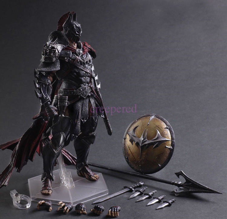 Justice League Play Arts Kai Batman Spartans Action Figure Toy Doll Statue PA US