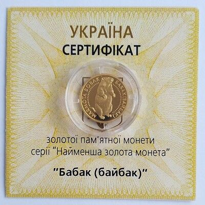 Ukraine 2009 Gold Au 999,9 Coin 1//25 Oz Reptiles Fauna KM# 535 TURTLE Tortoise
