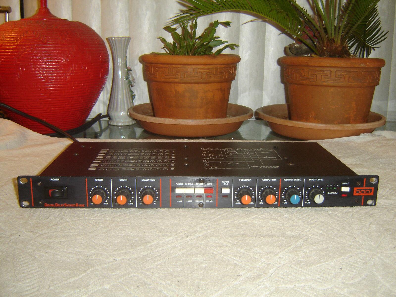 Dod r-909, Delay Digital sistema, sistema, sistema, ECHO, Doble, coro, flanger, Vintage Rack  calidad auténtica