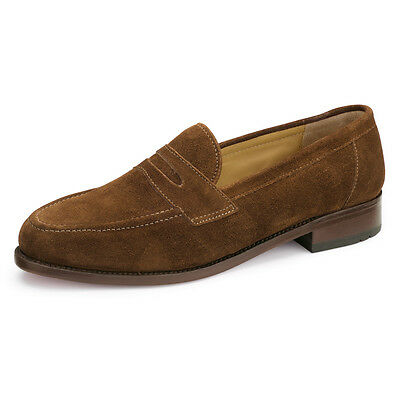 Samuel Windsor Classic Penny Loafer Brown Suede