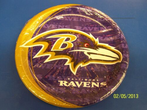 """Baltimore Ravens NFL Pro Football Sports Banquet Party 9/"""" Paper Dinner Plates"""