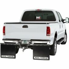NK ROCK TAMERS MUD FLAPS UNIVERSAL FIT ADJUSTABLE REMOVABLE STAINLESS BLACK 108