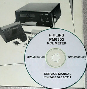 Philips Pm6303 Rcl Meter Service Manual Ebay