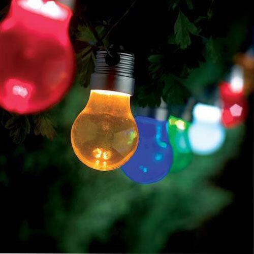 10 Revolution LED Decorative String Light Bulb Coloured Lights Outdoor Use New