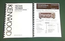 Kenwood TS-140S  Service & Instruction Manuals -Card Stock Covers & 32 LB Paper!