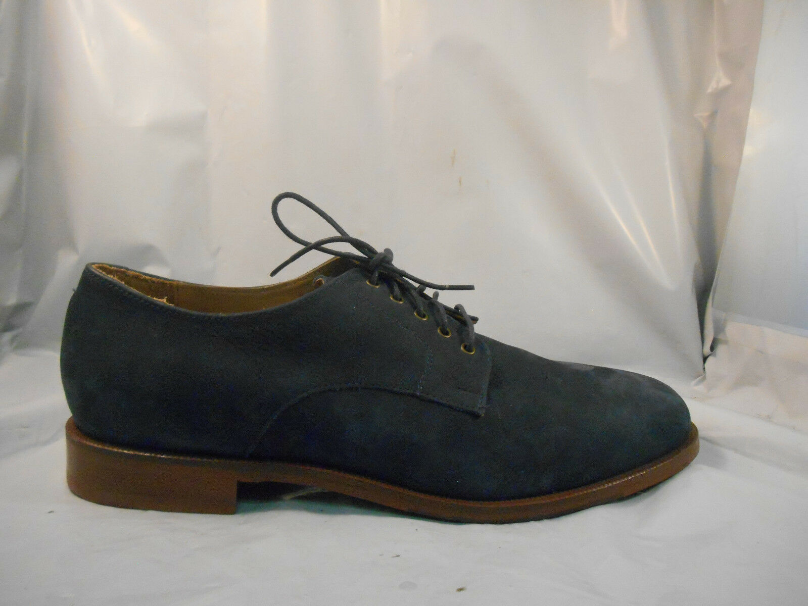 Cole Blue Haan Carter Grand Blazer Blue Cole Nubuck Plain Oxfords Men's Size 10.5 M 16ea90