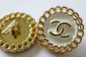 1-pcs-Stamped-Vintage-Chanel-Buttons-cc-white