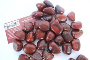 ONE-Hematite-Jasper-Tumbled-Stone-QTY1-Healing-Crystal-Reiki-Grounding-Power