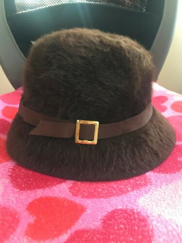 Kangol Brown Fuzzy Bucket Style Hat