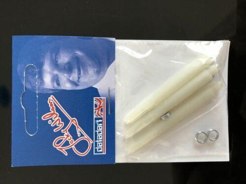 Datadart white Jocky Wilson medium dart stems//shafts//canes 5 sets