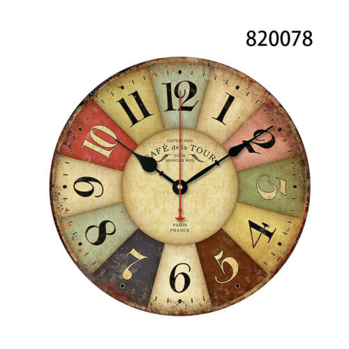 Garden Room Antique Decor Wall Clocks Decoration Clock Shabby Retro Kitchen