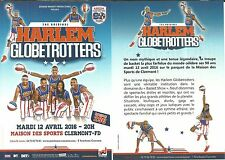 FLYER - HARLEM GLOBETROTTERS SPECTACLE SHOW BASKET BALL A CLERMONT FERRAND 2016