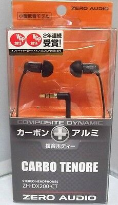 ZERO AUDIO ZH-DX200-CT  Inner Ear Stereo Headphones CARBO TENORE JAPAN