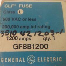 V3 NEW GENERAL ELECTRIC CLF FUSE GF8B1200 1200 AMP 1200A CLASS L NO BOX