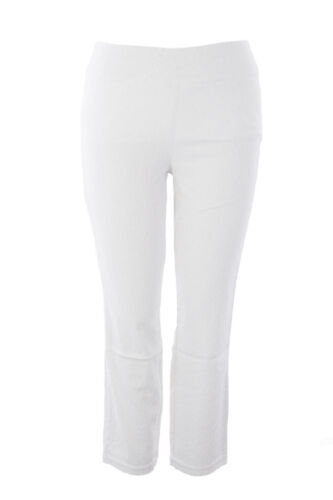 MIRACLEBODY by Miraclesuit Women/'s White Sandi Slim Pull-On Pants Sz 12 $102 NWT