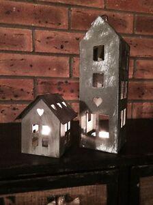 Image Is Loading Shaker Style House Tea Light Candle Holder Shabby
