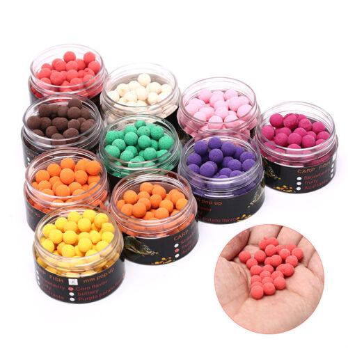 80pcs//box 8mm Smell Ups Carp Fishing Bait Boilies Floating Ball Beads Feeder KH