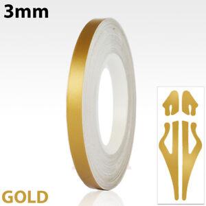 3mm-Self-Adhesive-Coach-Line-Pin-Stripe-Vinyl-Craft-Tape-Sticker-1-8-034-MATT-GOLD