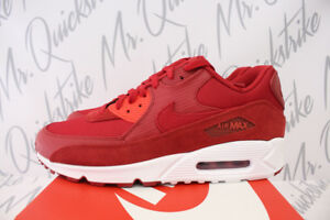 NIKE AIR MAX 90 PREMIUM SZ 10 SNAKESKIN PACK GYM RED HABANERO 700155 ... f6919f134