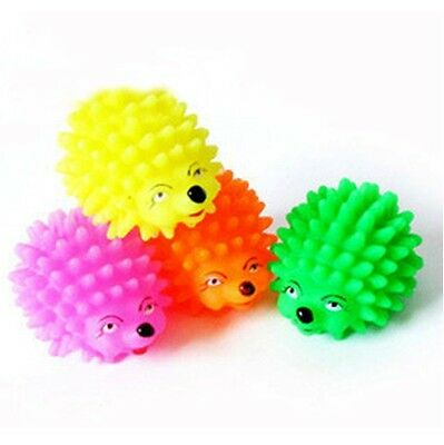 Cute Hedgehog Shape Pet Dog Puppy Squeaky Chew Toy Squeaker Ball Funny Toys 2.3""