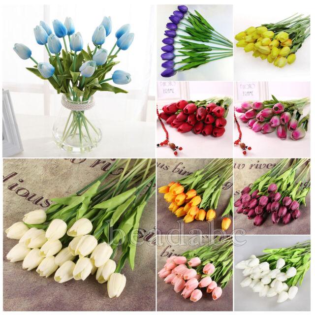 10/20/50/100pcs Tulip Flowers Latex Touch Bouquet Wedding Party Home Decoration