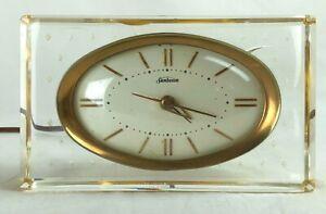 Tested Working Vintage Sunbeam Electric Desk Shelf Clock with Alarm Model B008