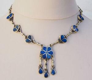 Orient-nomaden-Afghan-tribal-bellydance-bauchtanz-Lapis-Kette-Necklace-Blume