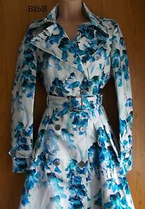 NewWT-Karen-Millen-floral-print-military-style-trench-coat-jacket-US-6-UK-10