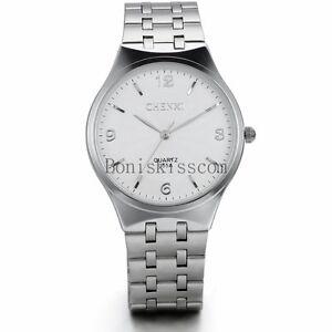 New-Fashion-Men-039-s-Business-Analog-Quartz-Wrist-Watch-Stainless-Steel-Watches