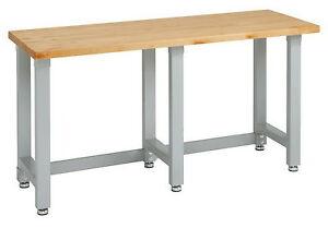 image is loading new heavy duty workbench wood table top steel - Workbench Frame