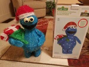 Details About Kurt S Adler 18 Sesame Street Cookie Monster Lighted Indoor Outdoor Christmas