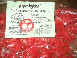"""PIPE-TYTES 1/"""" SUSPENSION CLAMPS 50PCS AB0228-50-WH42-A07"""