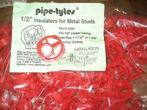 PIPE-TYTES 1/2 PLUMBING INSULATORS 100PCS (AB0231-100-WH42-A07)
