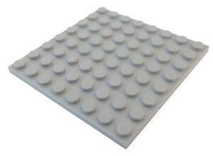 Lego-10-Stueck-Platte-8x8-in-hellgrau-light-bluish-gray-41539-Neu-Platten-City