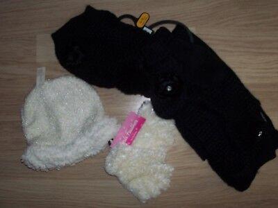 Generoso Le Ragazze Bundle Sciarpa/cappello/guanti 4/8 Anni-mostra Il Titolo Originale